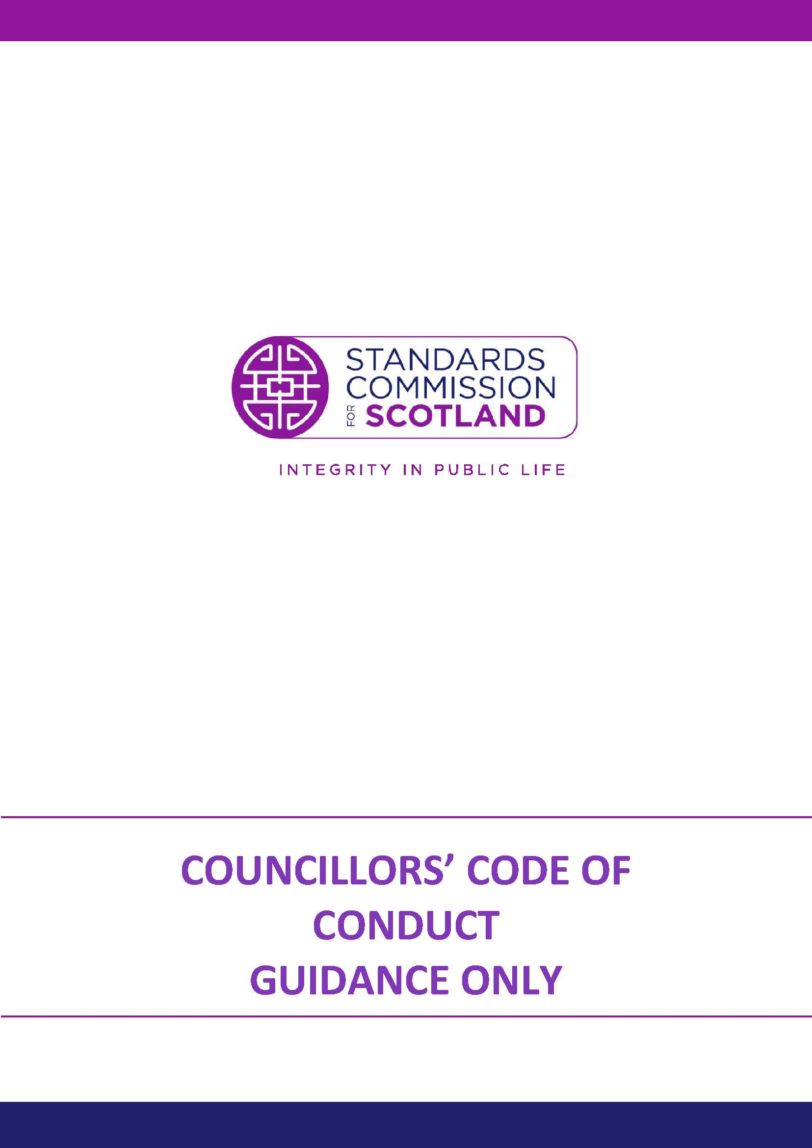 Councillors' Code of Conduct - Guidance only