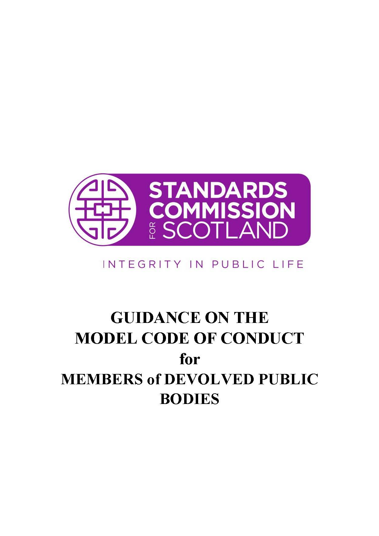 Guidance on the Model Code of Conduct for Members of Devolved Public Bodies