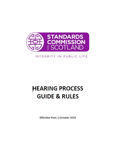 Hearing Process Guide and Rules 2019